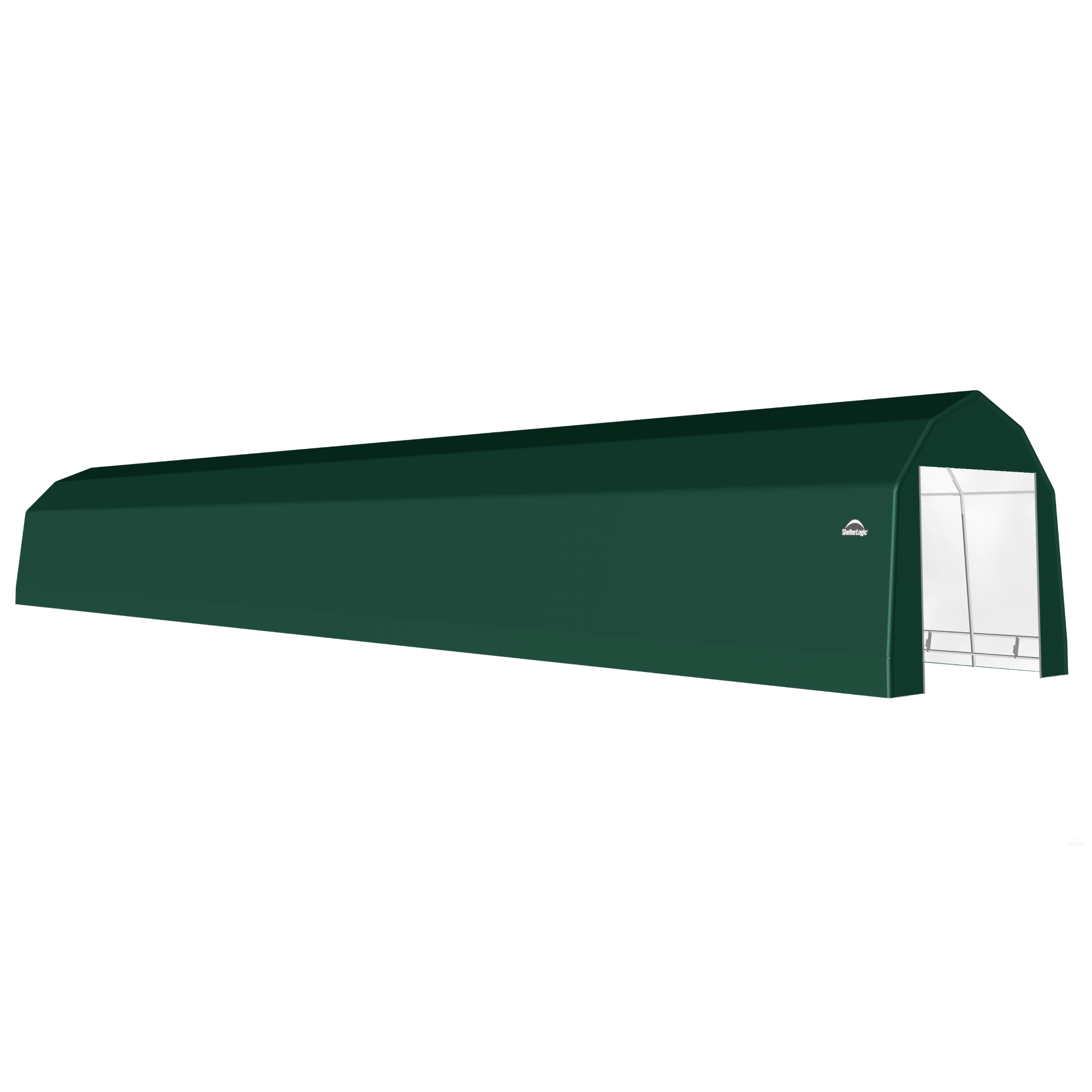 SP Barn 12X84X11 Green 14 oz PE Shelter