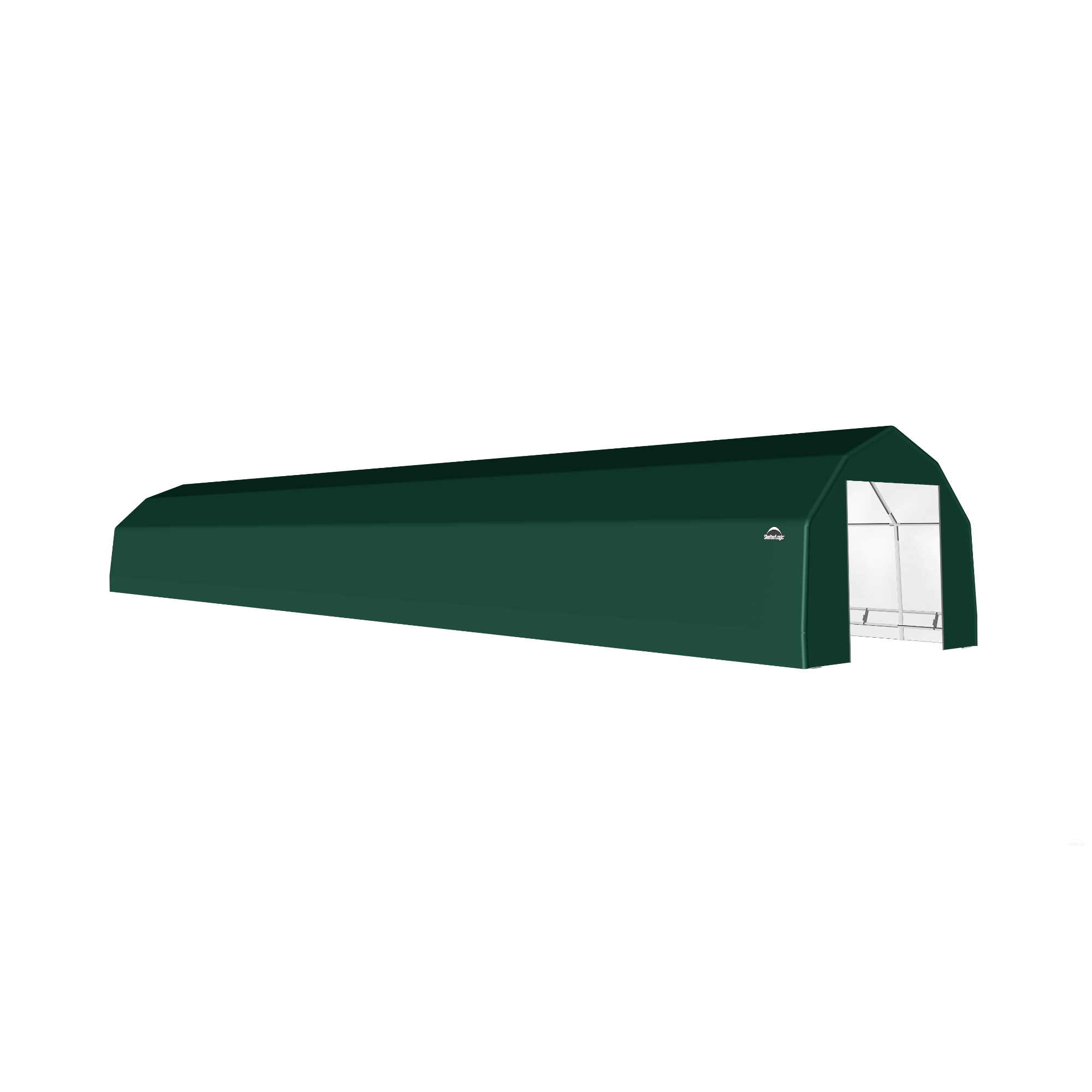 SP Barn 15X76X11 Green 14 oz PE Shelter