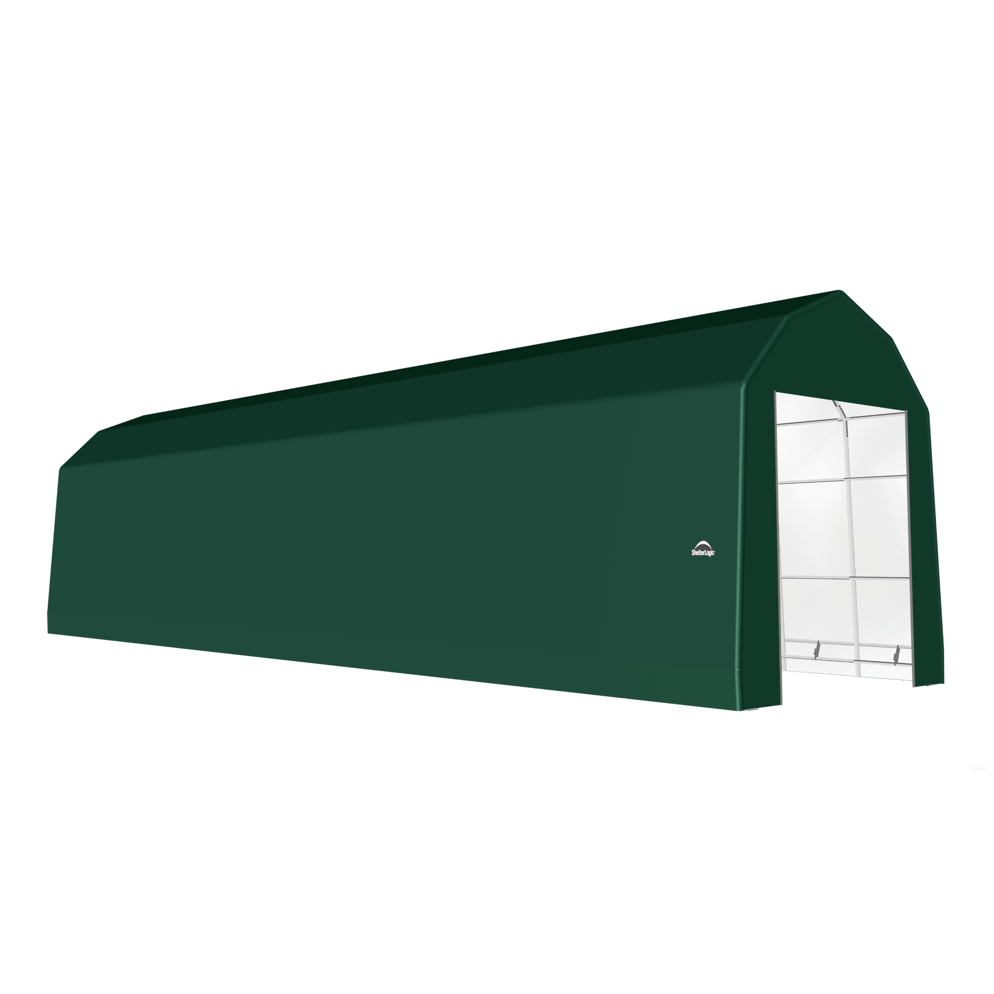 SP Barn 15X52X17 Green 14 oz PE Shelter