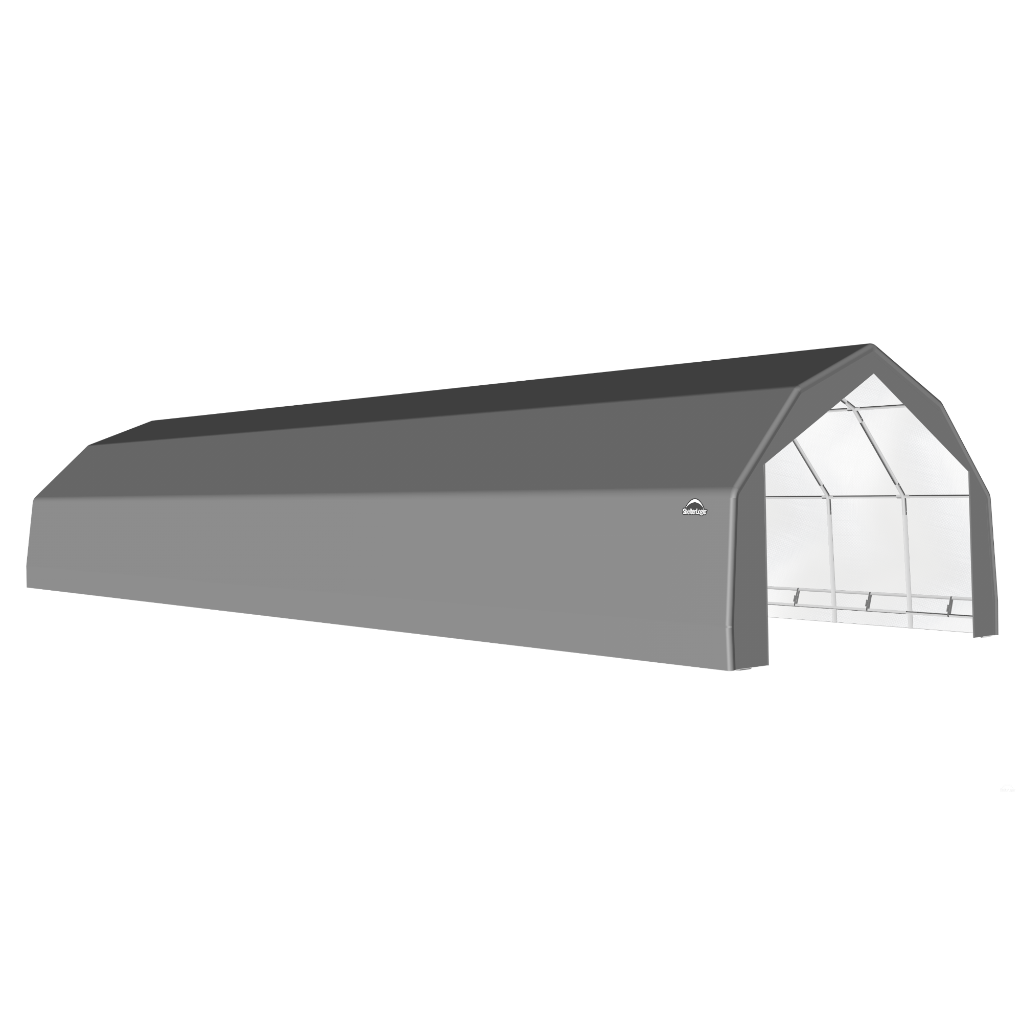 SP Barn 20X56X12 Gray 14 oz PE Shelter
