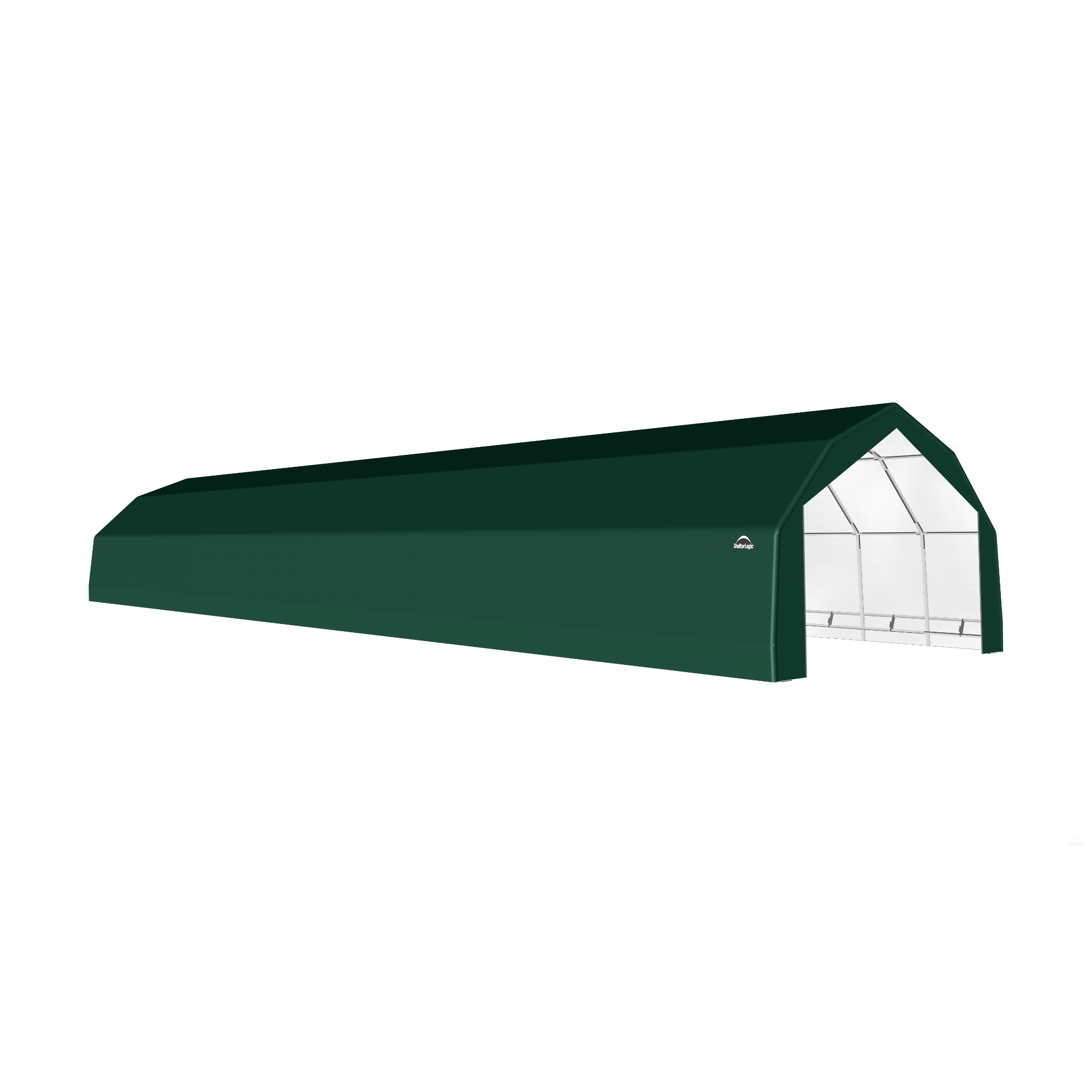 SP Barn 20X84X12 Green 14 oz PE Shelter