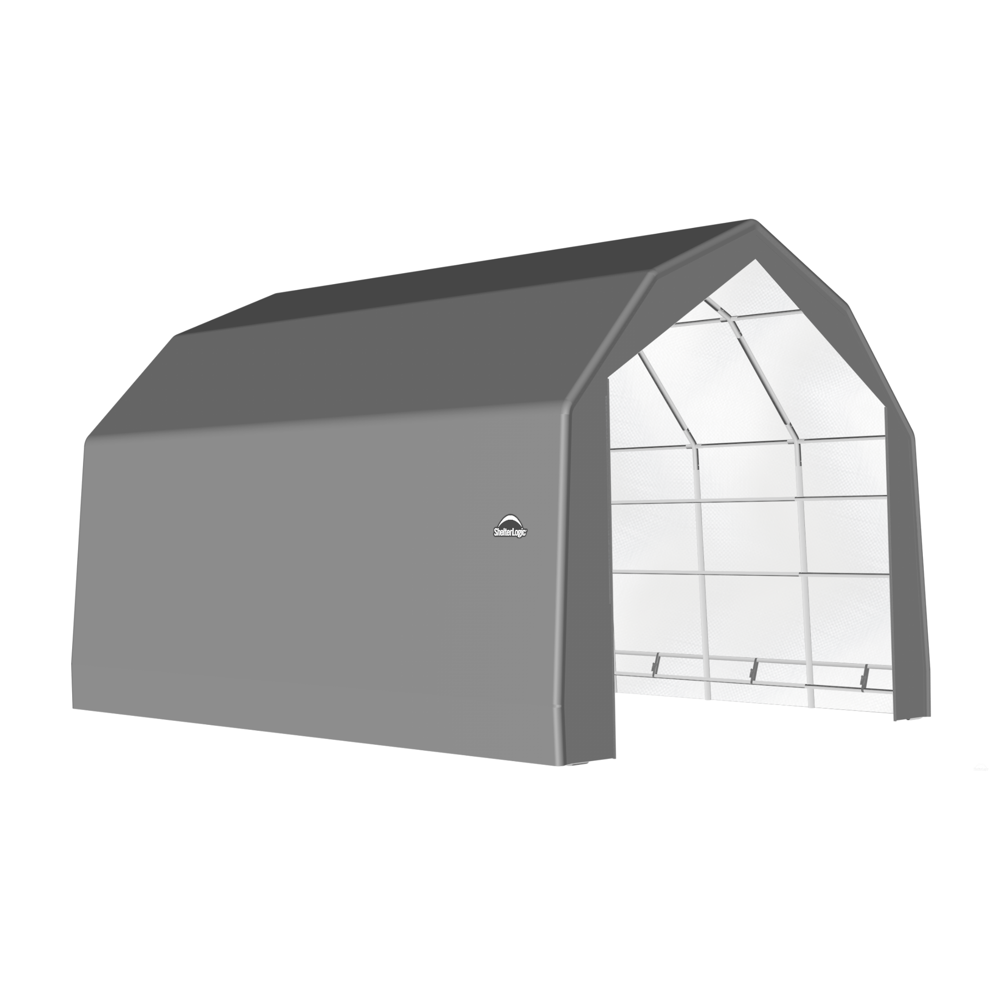 SP Barn 20X20X15 Gray 14 oz PE Shelter