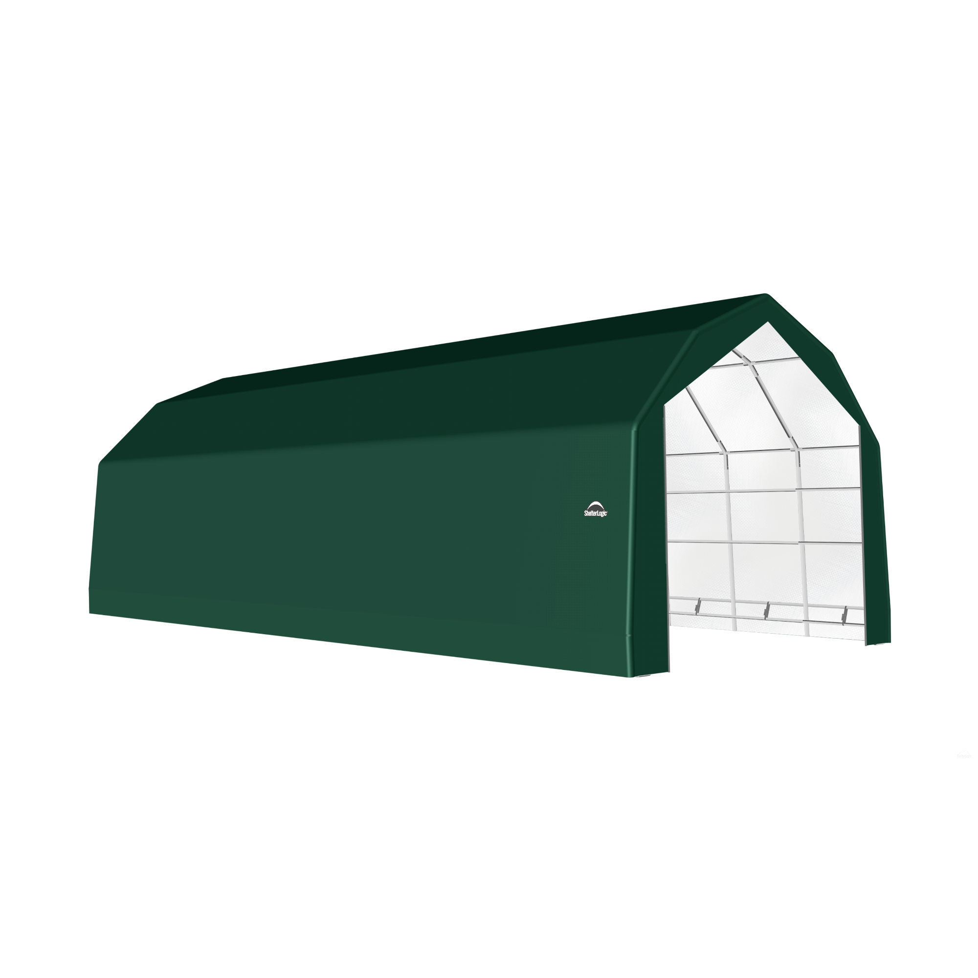 SP Barn 20X44X15 Green 14 oz PE Shelter