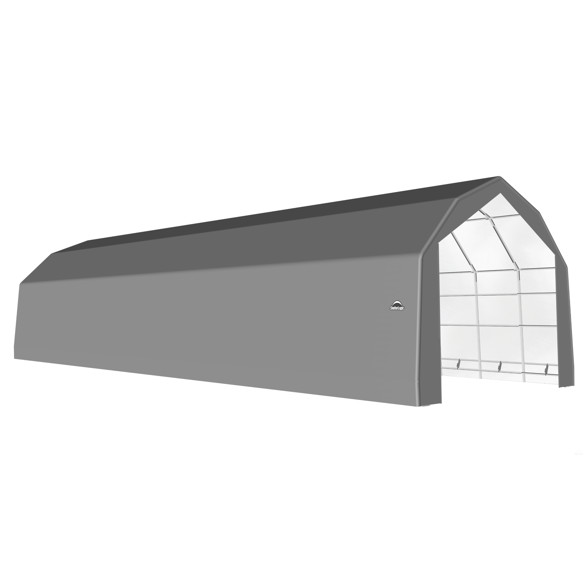 SP Barn 20X64X15 Gray 14 oz PE Shelter