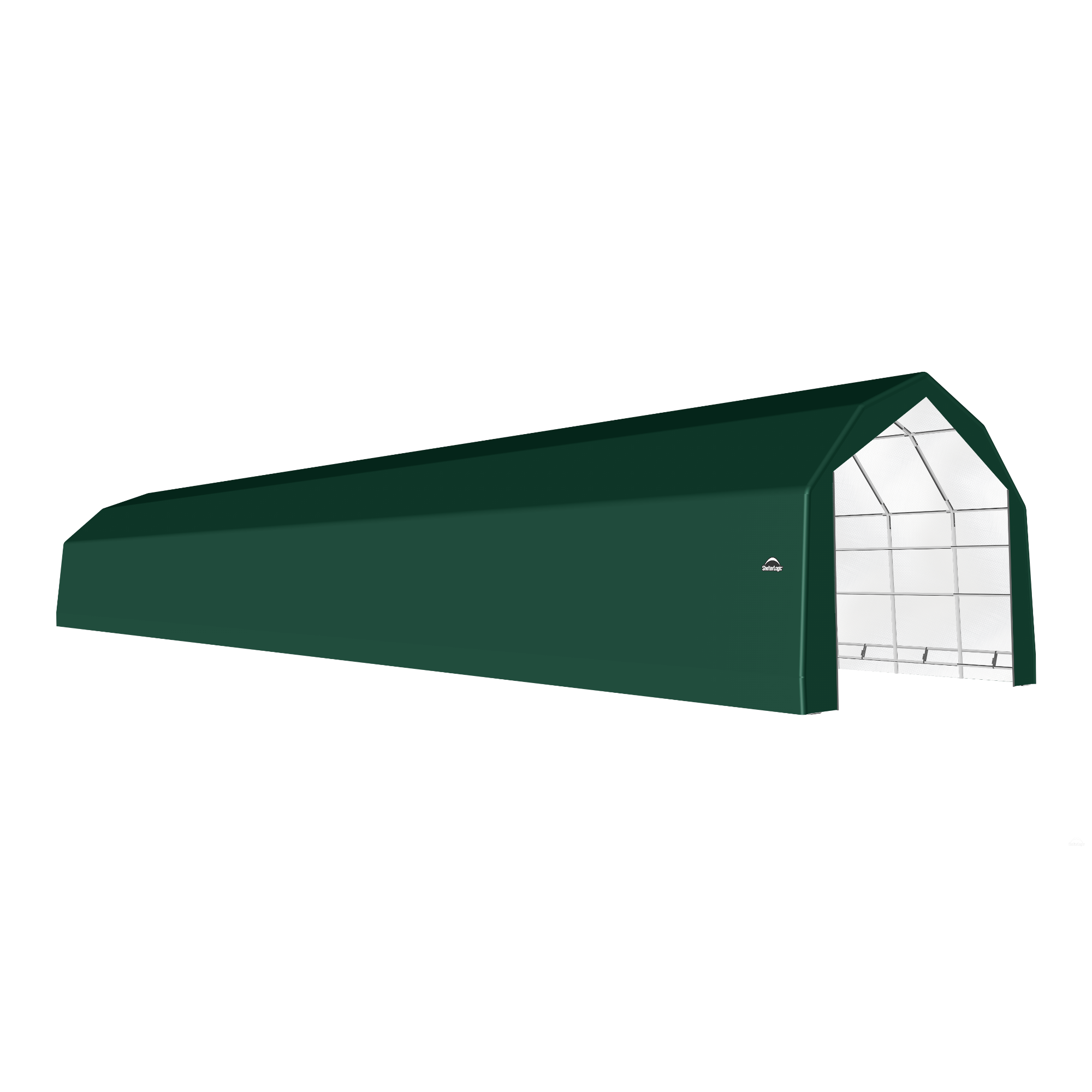 SP Barn 20X96X15 Green 14 oz PE Shelter