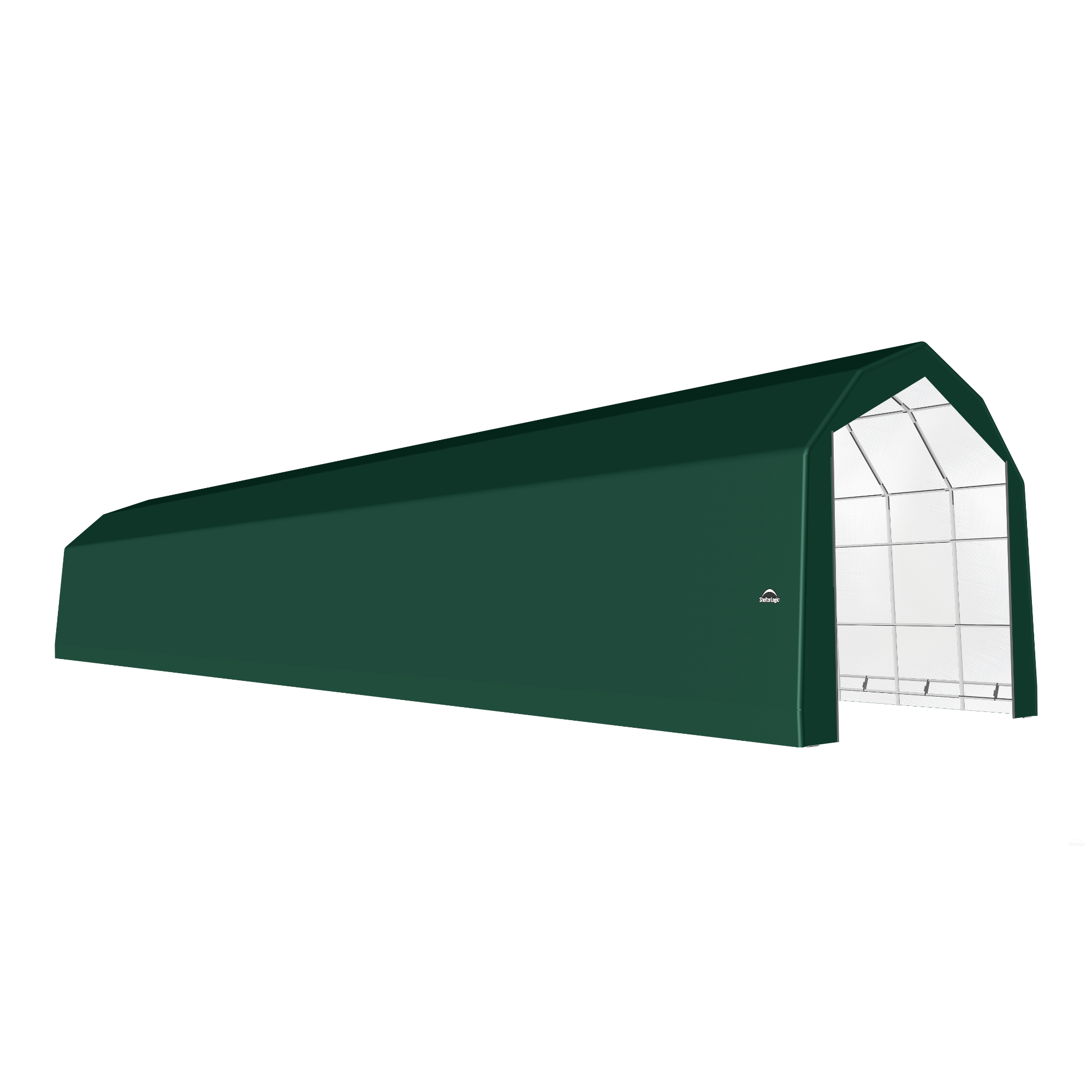 SP Barn 20X100X18 Green 14 oz PE Shelter