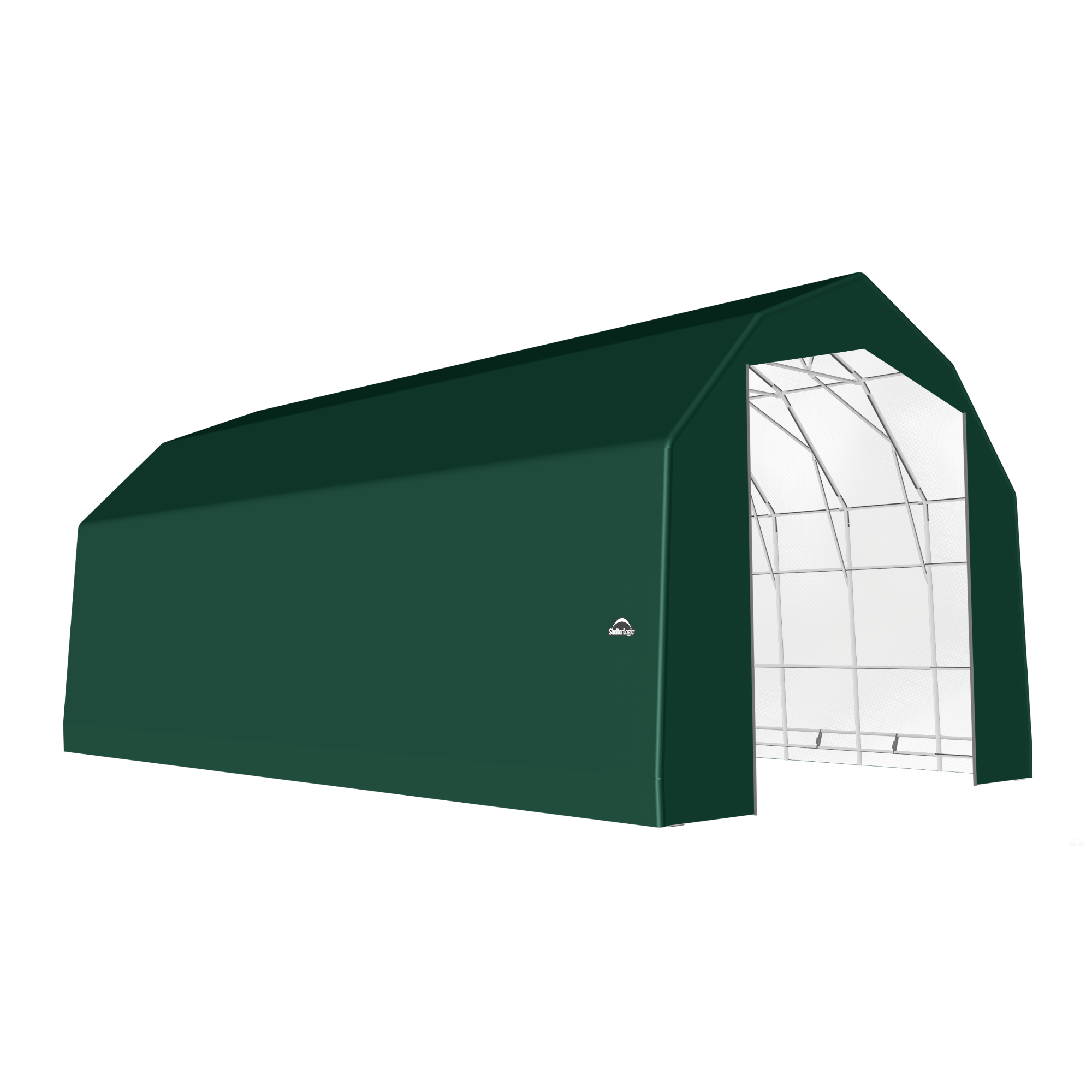 SP Barn 25X48X20 Green 14 oz PE Shelter