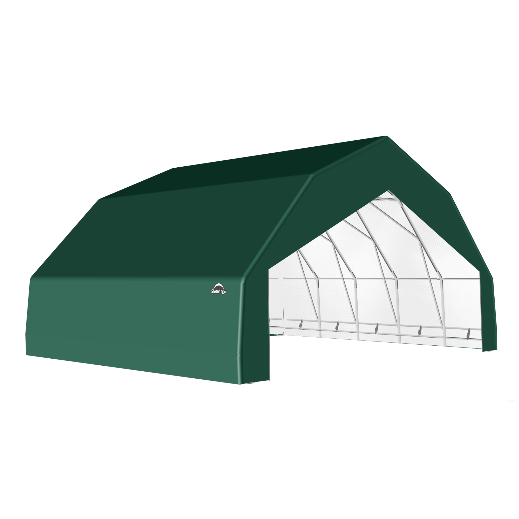 SP Barn 30X28X15 Green 14 oz PE Shelter