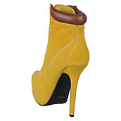 1f6b768e81fe Buy Wild Rose Womens Bryna-20 Mustard Platform Ankle Boot High Heel