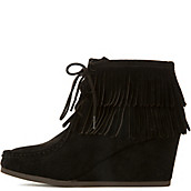 eb86b7298213 Women s Inout-S Wedge Fringe Ankle Boot. Shiekh