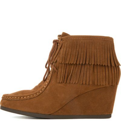 Women's Inout-S Wedge Fringe Ankle Boot