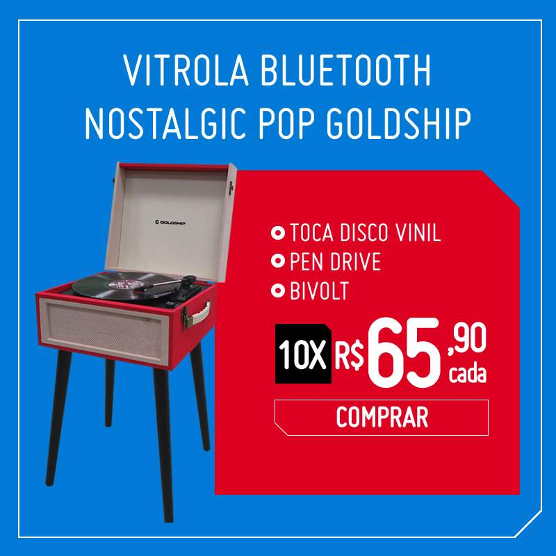 Vitrola Bluetooth Nostalgic Pop Goldship