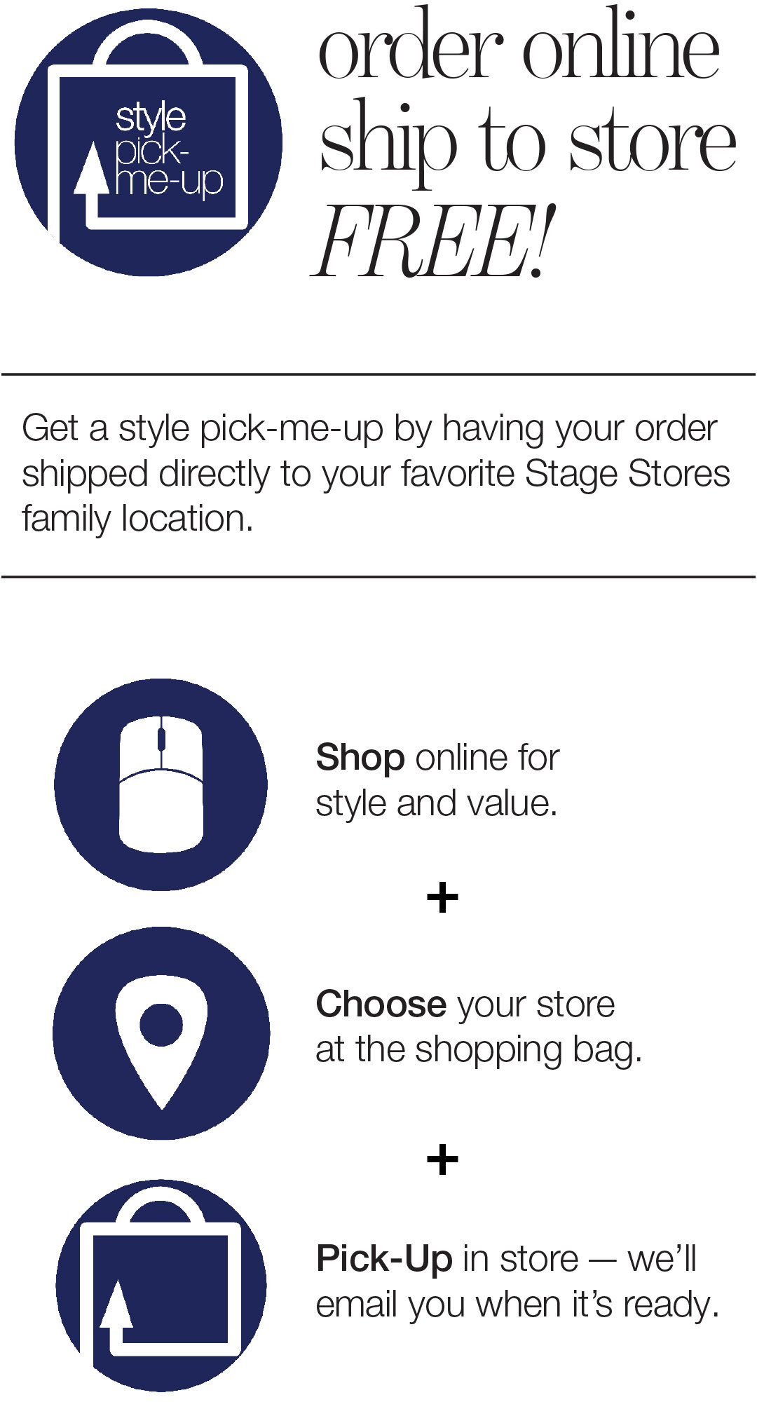 Buy Online Ship to Store