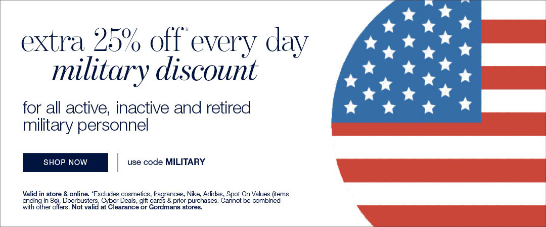 Stage Stores Military Discount: Use code MILITARY