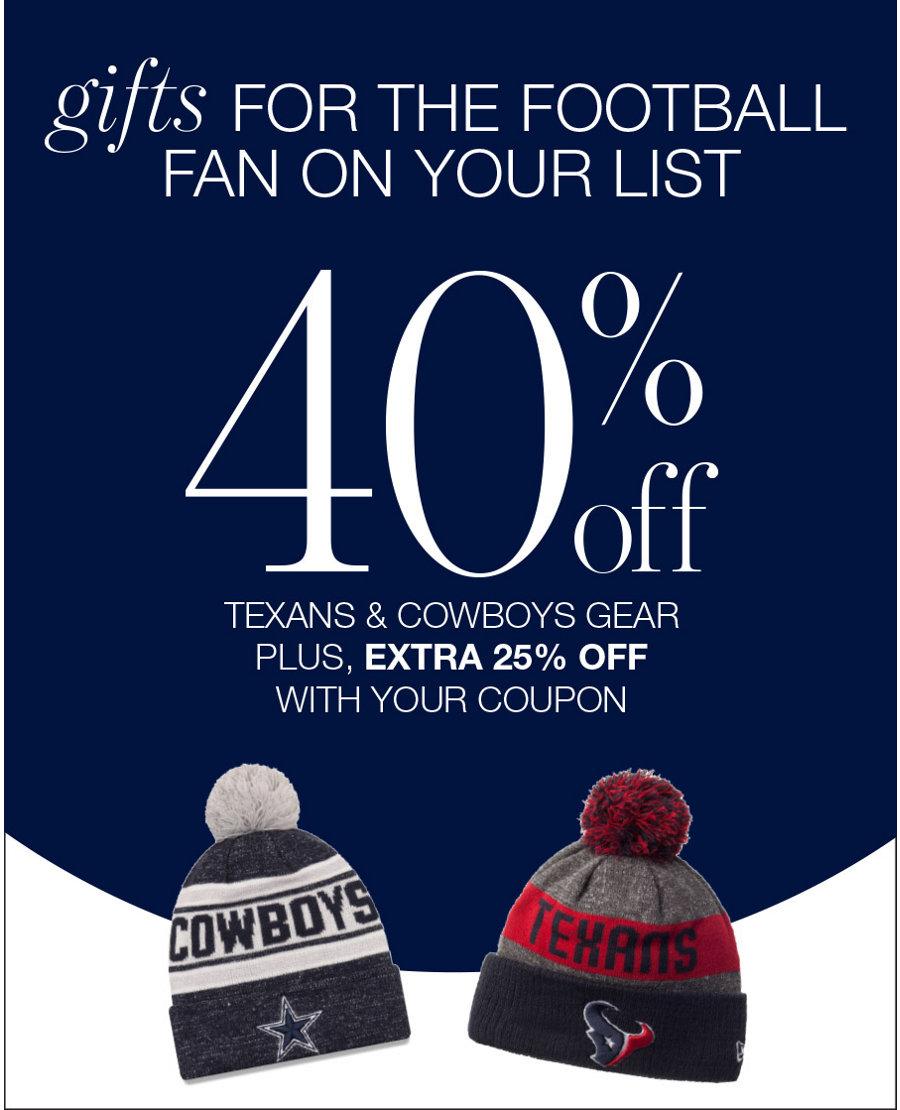 40% off fan gear