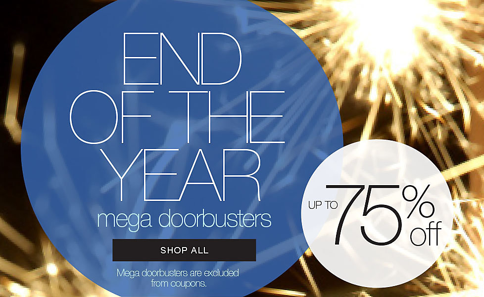 Up to 75% Off End Of The Year Doorbusters