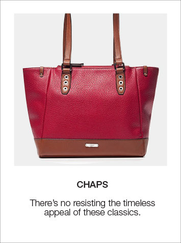 Timeless and Classic Chaps Handbags