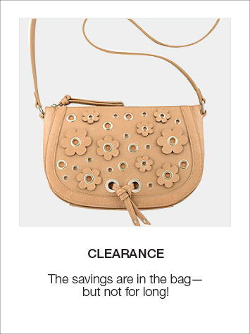 Savings are in the bag with Clearance Handbags