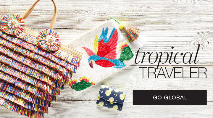 Tropical, Global inspired Handbags & Wallets