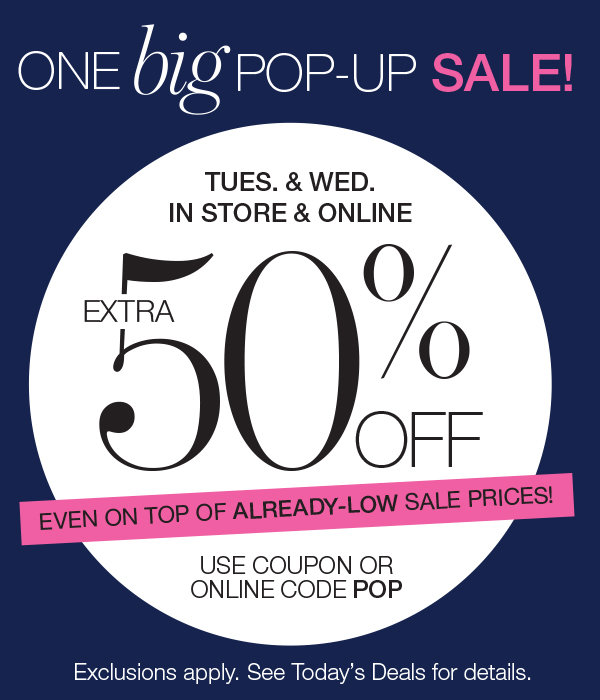 extra 50% off purchases