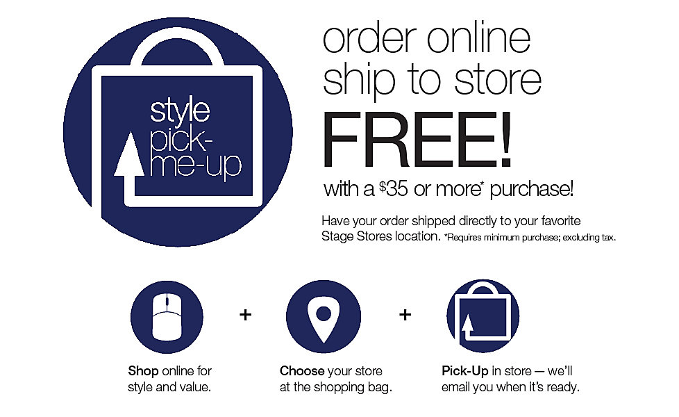 Buy Online Ship to Store for free