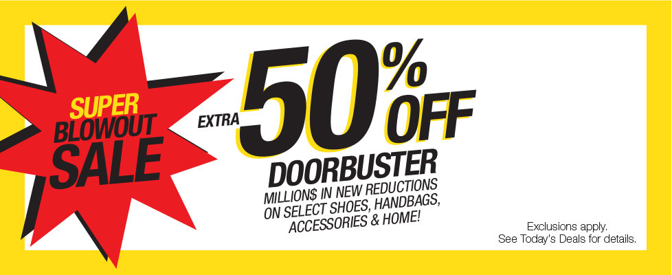 extra 50% off blowout doorbusters
