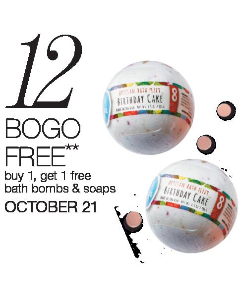 Buy 1 Get 1 Half Off Bath Bombs & Soaps