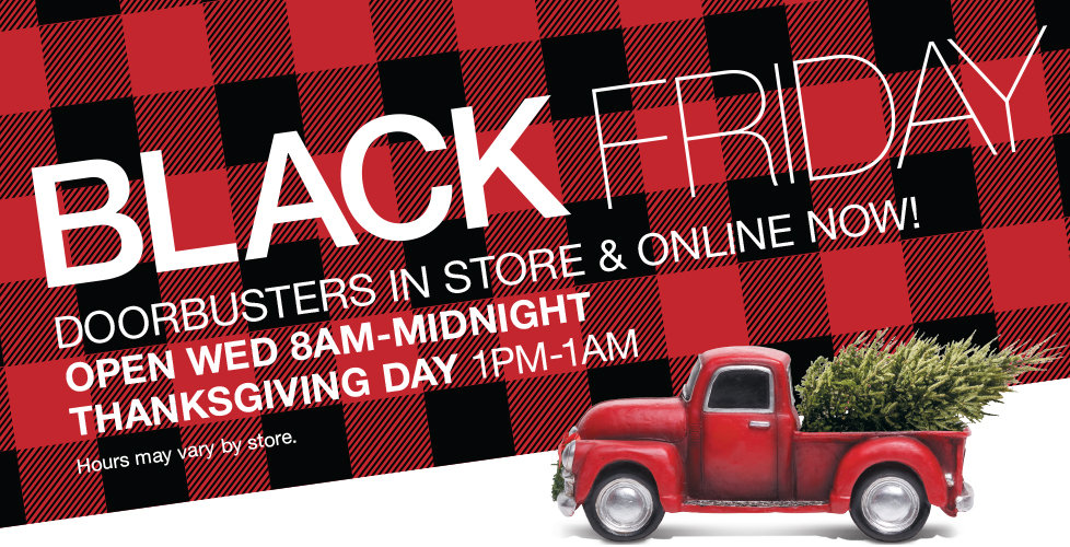 Shop Our Black Friday Doorbusters Online Now + Free Shipping with $49 Purchase