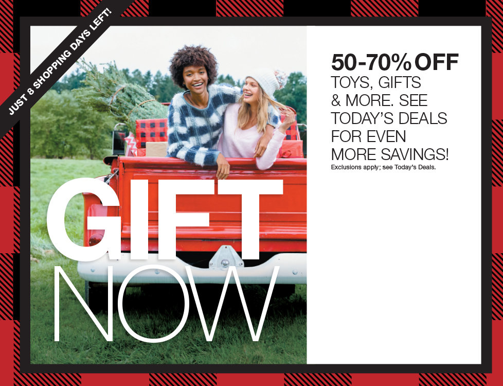 Gift Now! 50%-70% OFF Toys, Gourmet Gifts and more