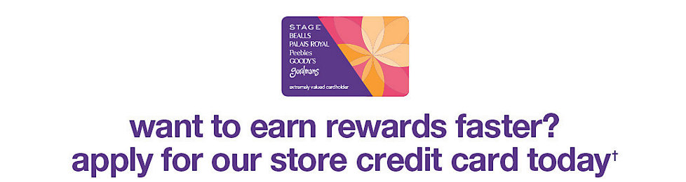 Want to earn rewards faster? Apply for our store credit card today!