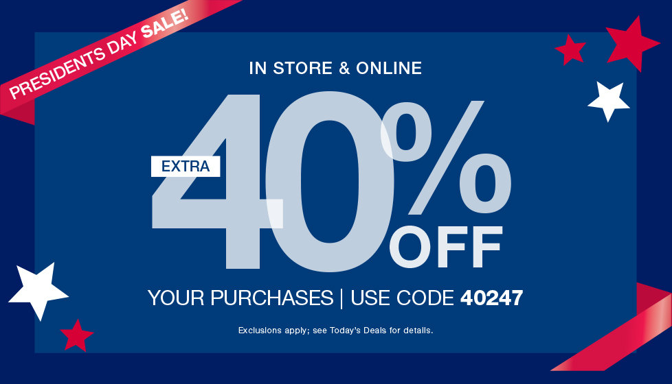 President's Day Sale! Extra 40% OFF Your Online Purchases with COde 40247 at Stage.