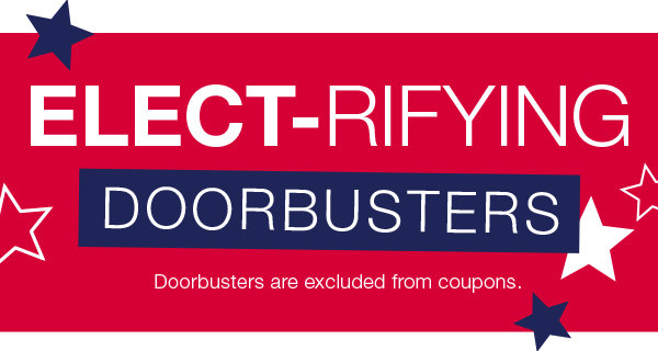 Doorbusters for the Family at Stage! 60% OFF women's and men's clothing, 60% off carter's, 60% off handbags, 16.99 boots and more.