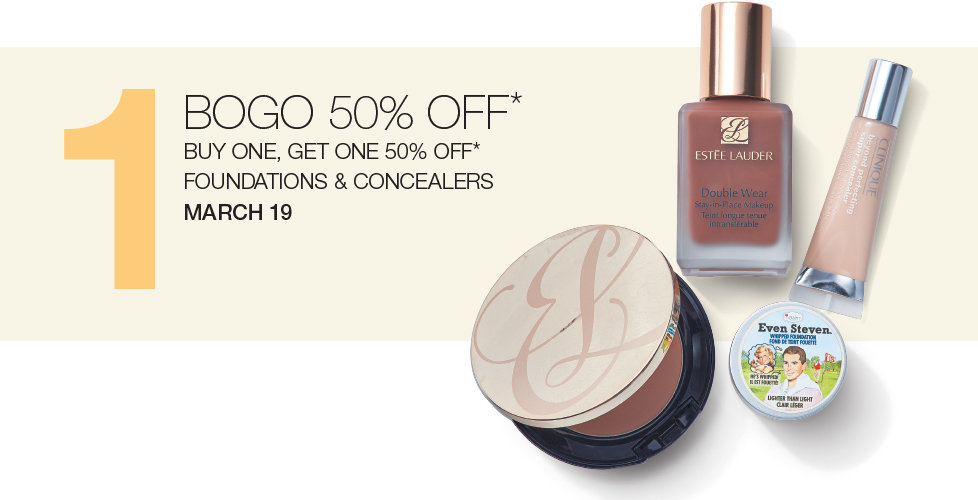Today Only! Buy One Get One 50% OFF Foundations & Concealers at Stage