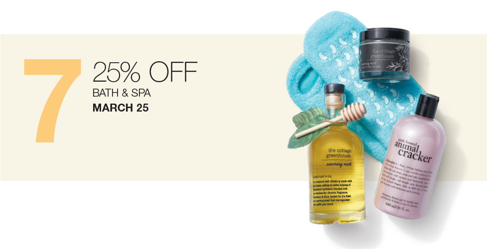 25% OFF Your Bath & Body Purchase Today Only at Stage