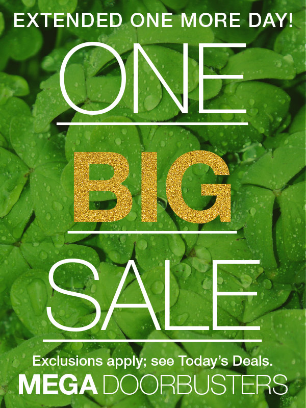 Shop One Big Sale Mega Doorbusters for the Family at Stage