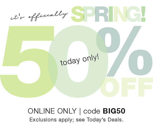 Extra 50% OFF Online with Code BIG50 When You Shop at Stage