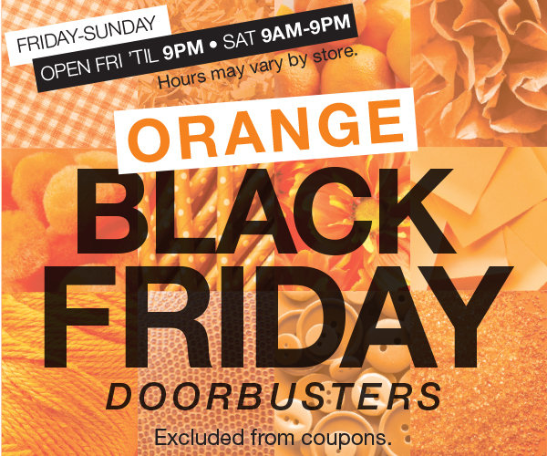 Shop Orange Black Friday Doorbusters at Stage