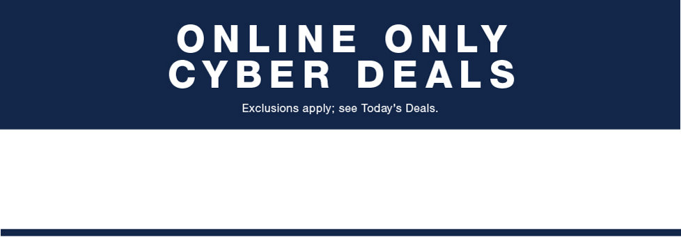 Shop Online Only Cyber Deals at Stage