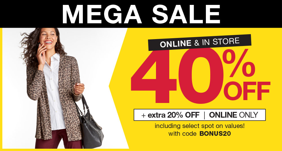 Mega Sale! 40% OFF Plus an extra 20% OFF with code BONUS20 at Stage