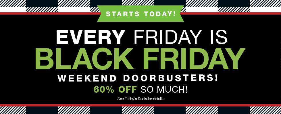 60% OFF Black Friday Preview Doorbusters at Stage