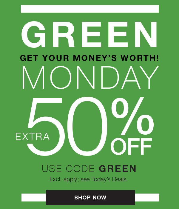 Green Monday! Extra 50% off with code GREEN at Stage