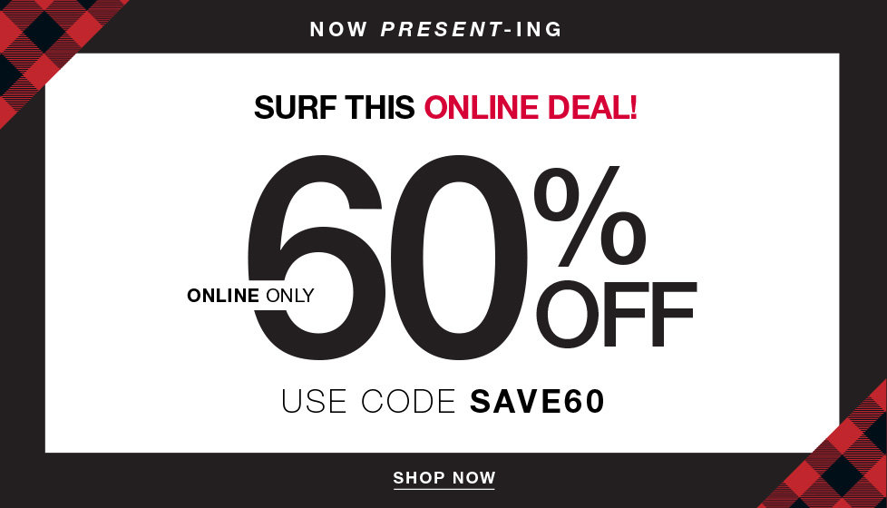 Online Only - 60% off