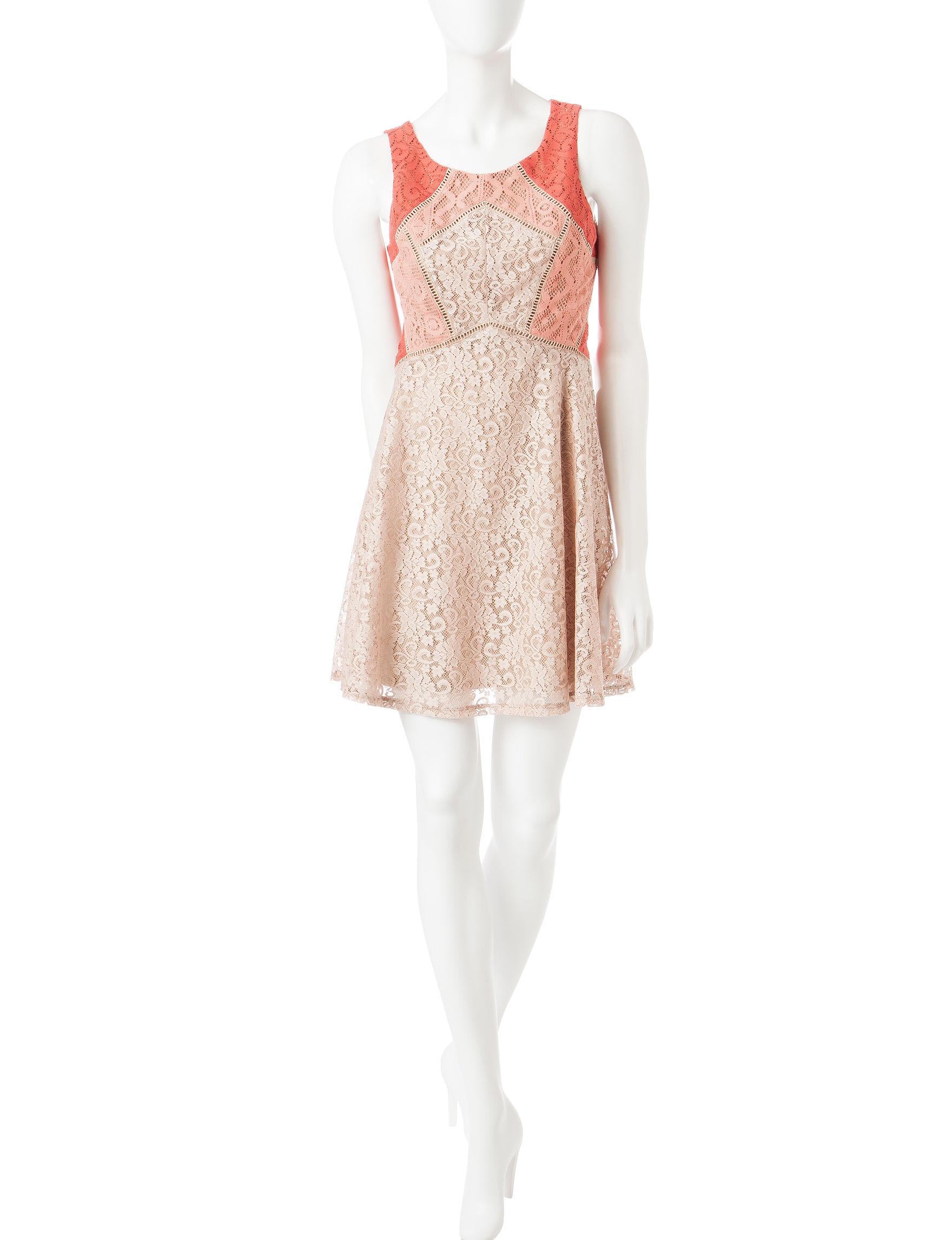 Love Fire Orange Everyday & Casual Shift Dresses