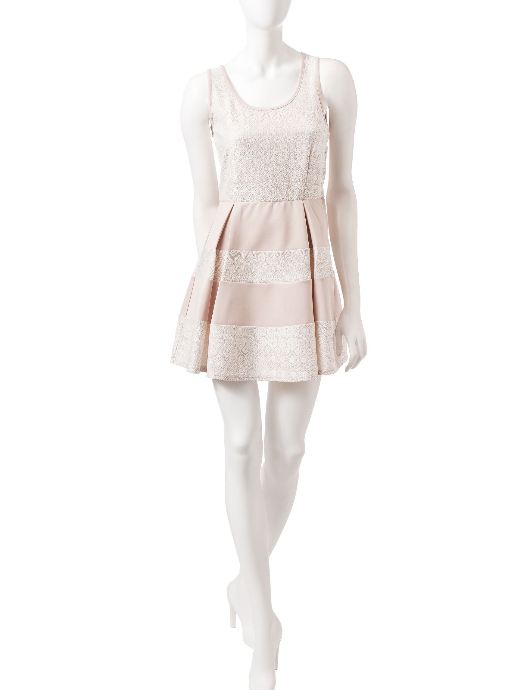 Trixxi Ivory Everyday & Casual Shift Dresses