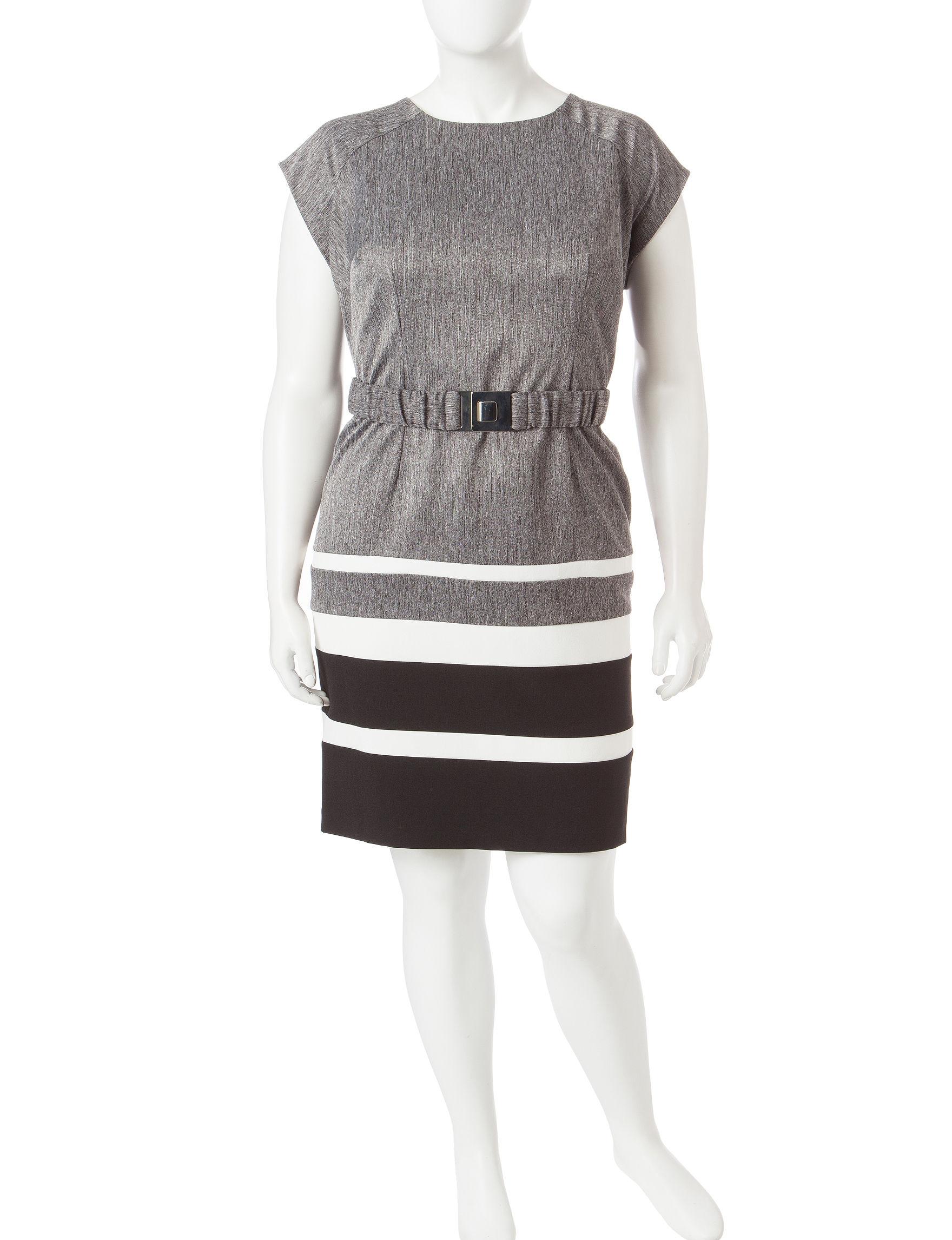 Sandra Darren Black /  White Everyday & Casual Sheath Dresses