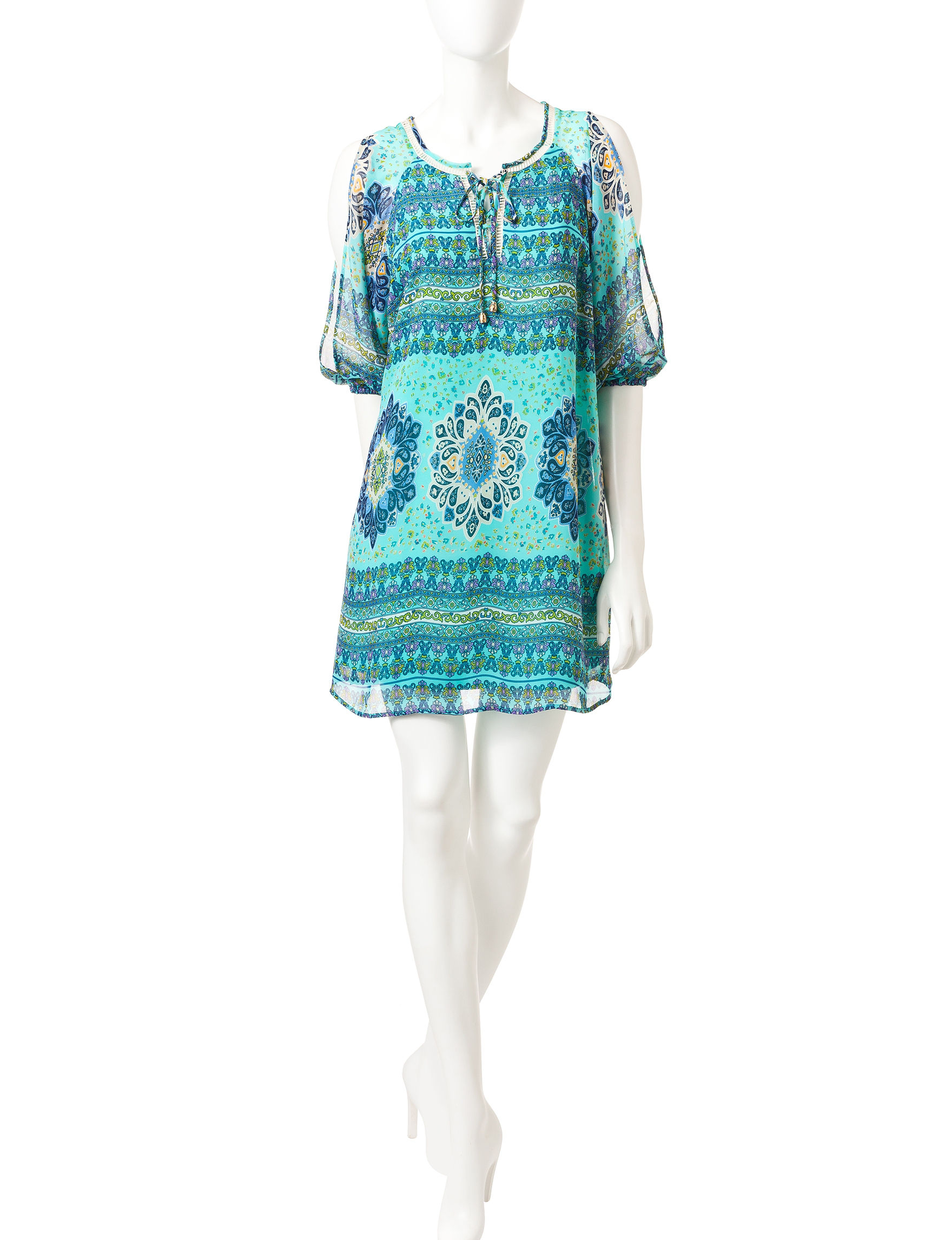 My Michelle Blue / Multi Everyday & Casual Shirt Dresses