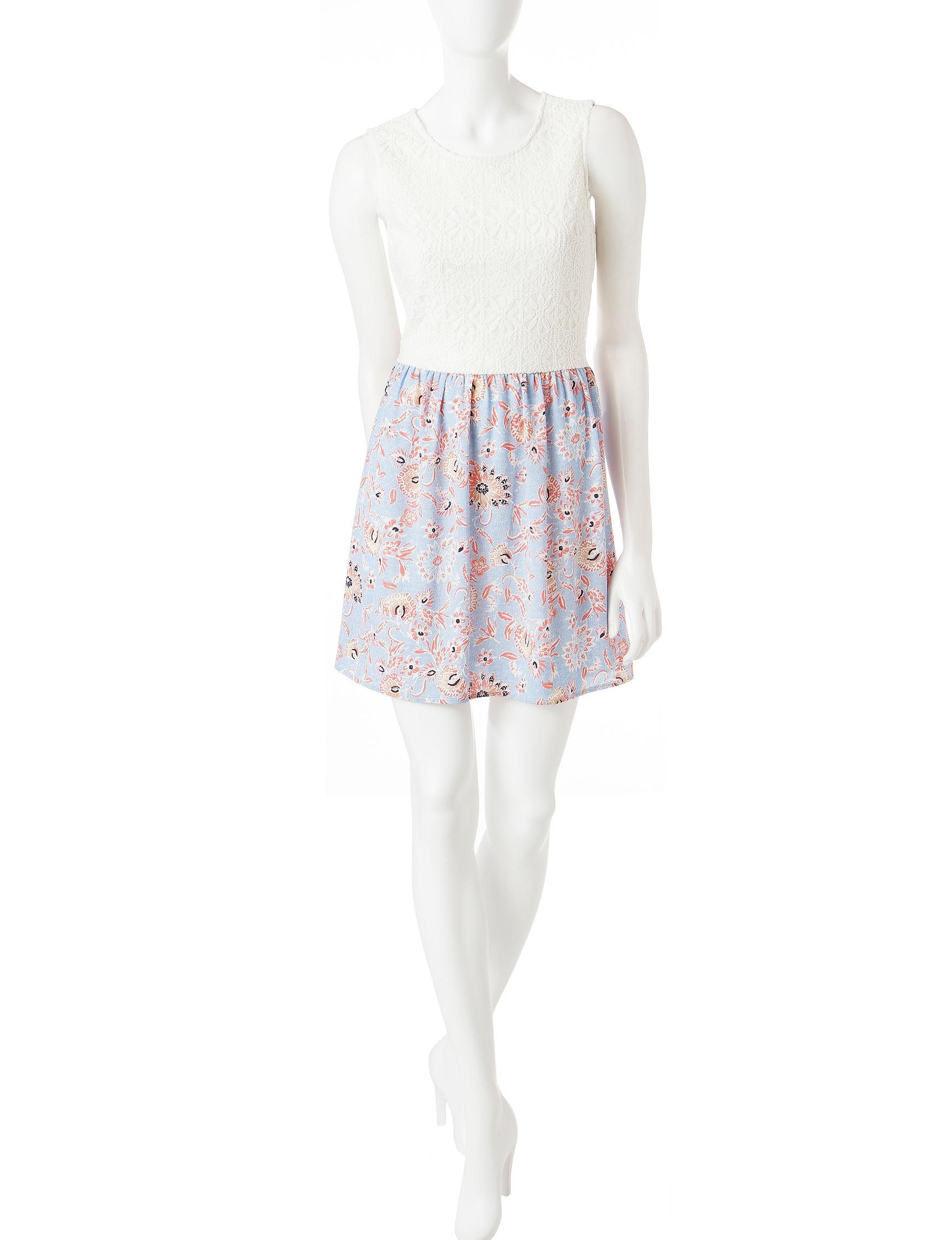 BeBop Ivory Everyday & Casual Shift Dresses
