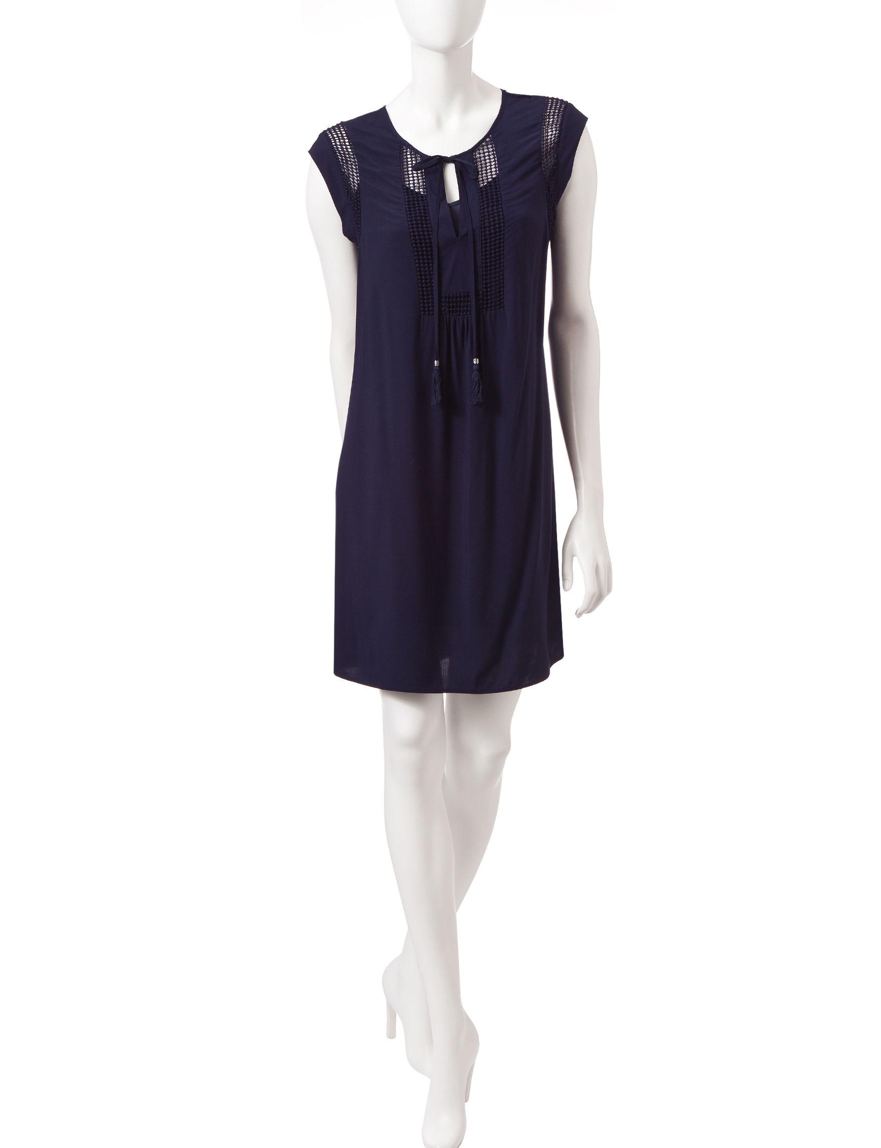 Signature Studio Navy Everyday & Casual Shirt Dresses