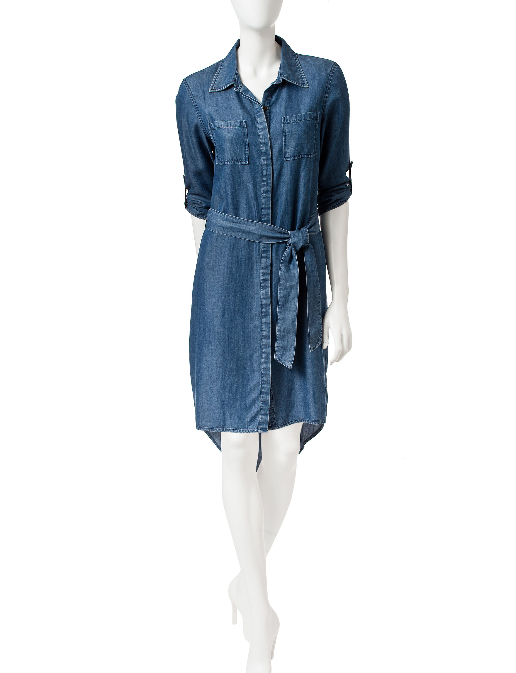 Signature Studio Chambray Everyday & Casual Shirt Dresses