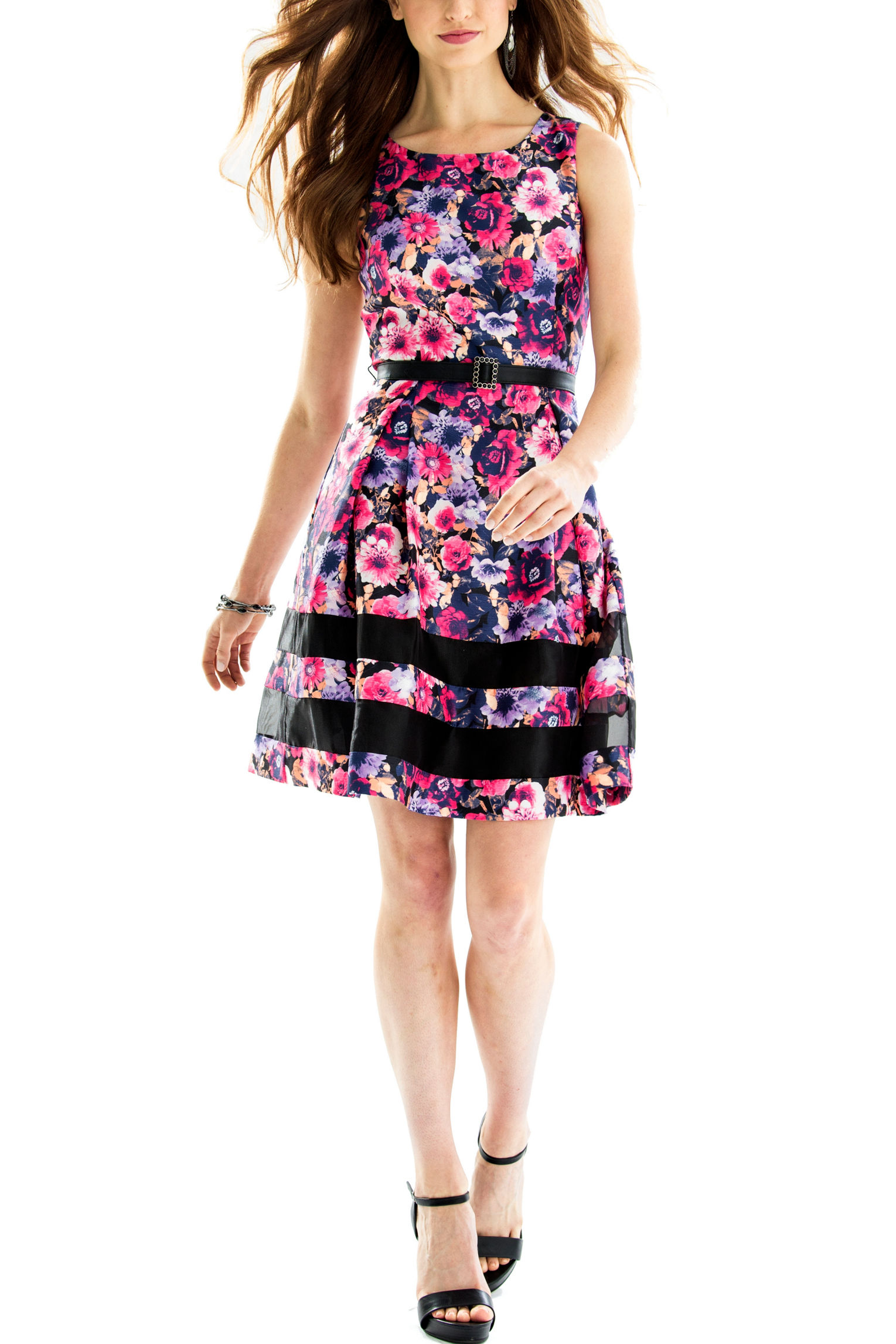 Chetta B Pink Multi Everyday & Casual Shift Dresses
